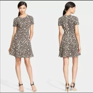 KATE SPADE AUTUMN LEOPARD SKATER FIT FLARE SMALL